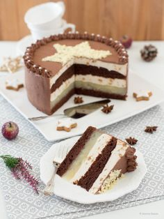 Sugarprincess: Weihnachtliche Birnentorte von Die Küchenzuckerschnecke und Schnee Mandelrauten von R #kitchendoors