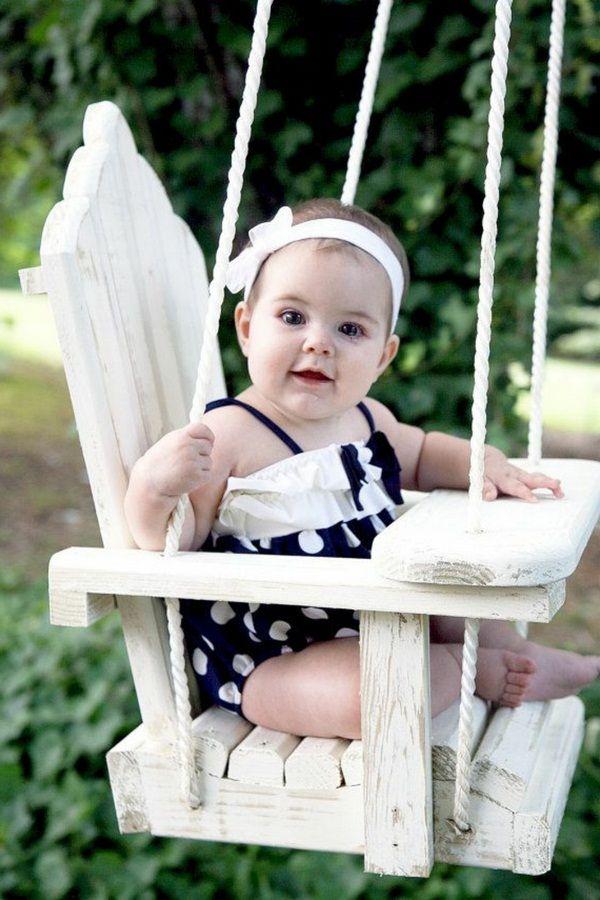 Children S Swing Wooden Rustic Effect Childrens Swings Baby Swing Outdoor Outdoor Baby