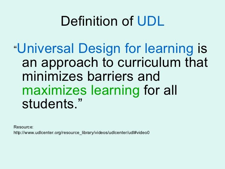 The Purpose Of Universal Design For Learning Is To Not Only