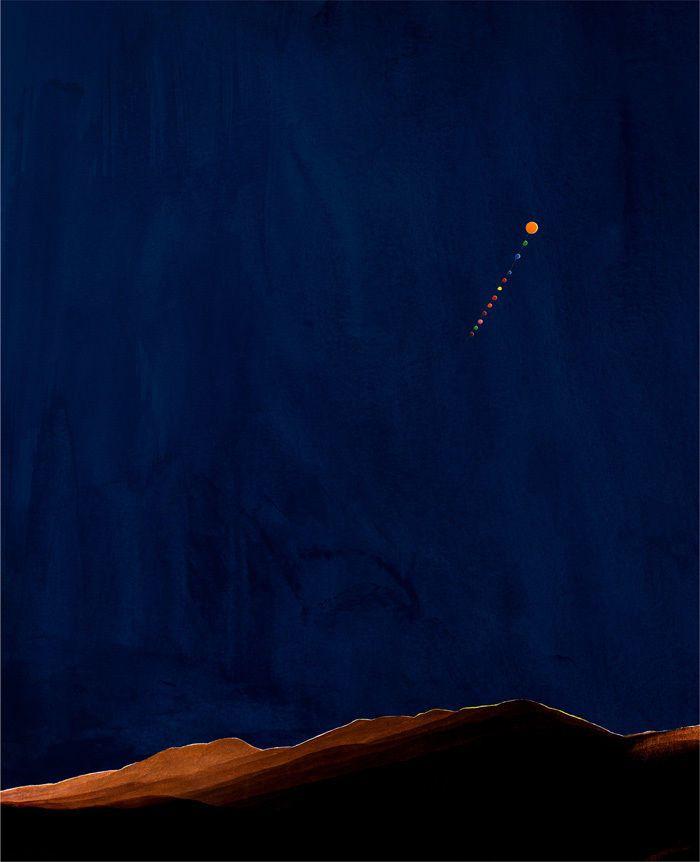 Nacht im Riesengebirge [Night in the Riesengebirge] by  Florian Maier-Aichen