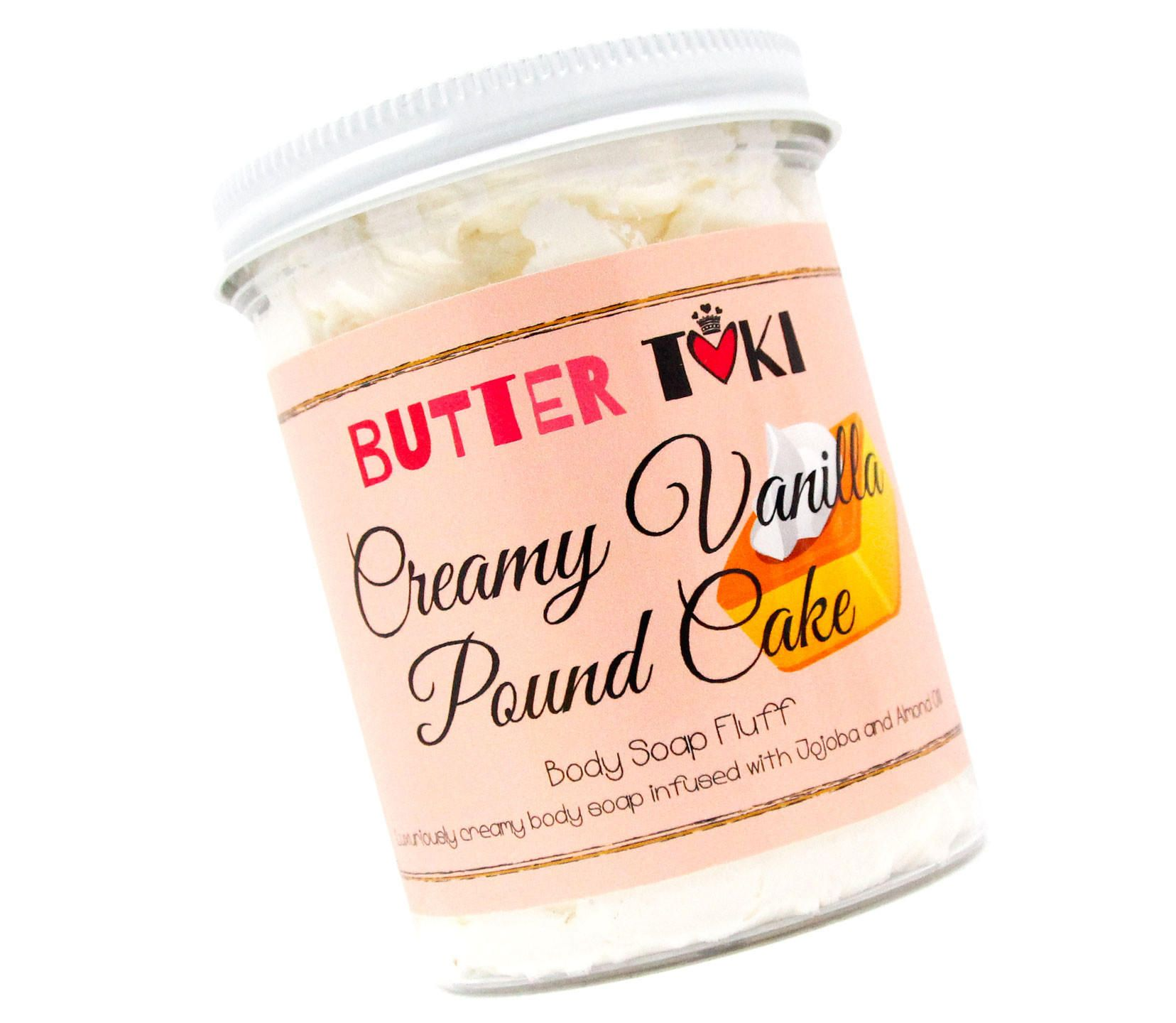 CREAMY VANILLA POUND CAKE Whipped Body Soap Fluff 8oz from 214 N 16th St Ste 104. Saved to Things I want as gifts. #handmade #cake #soap #cakesoap #vanilla.