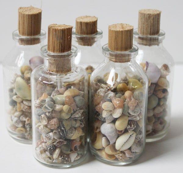 Medium Shell Filled Bottles (http://www.caseashells.com/medium-shell-filled-bottles-1-dozen/)  #shellcrafts, #californiaseashellcompany