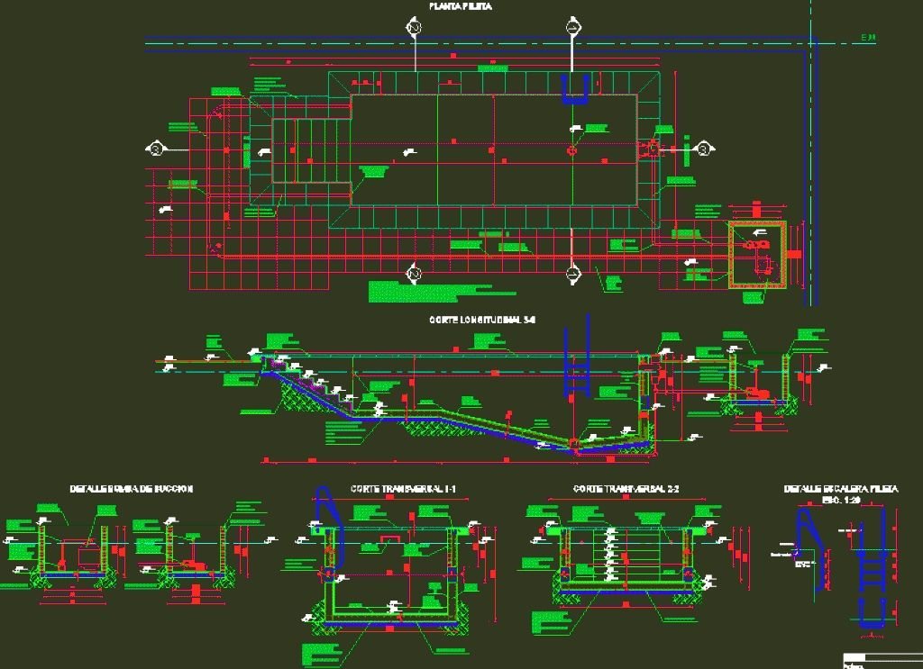 Swimming Pool Structural Design Swimming Pool Details In Autocad