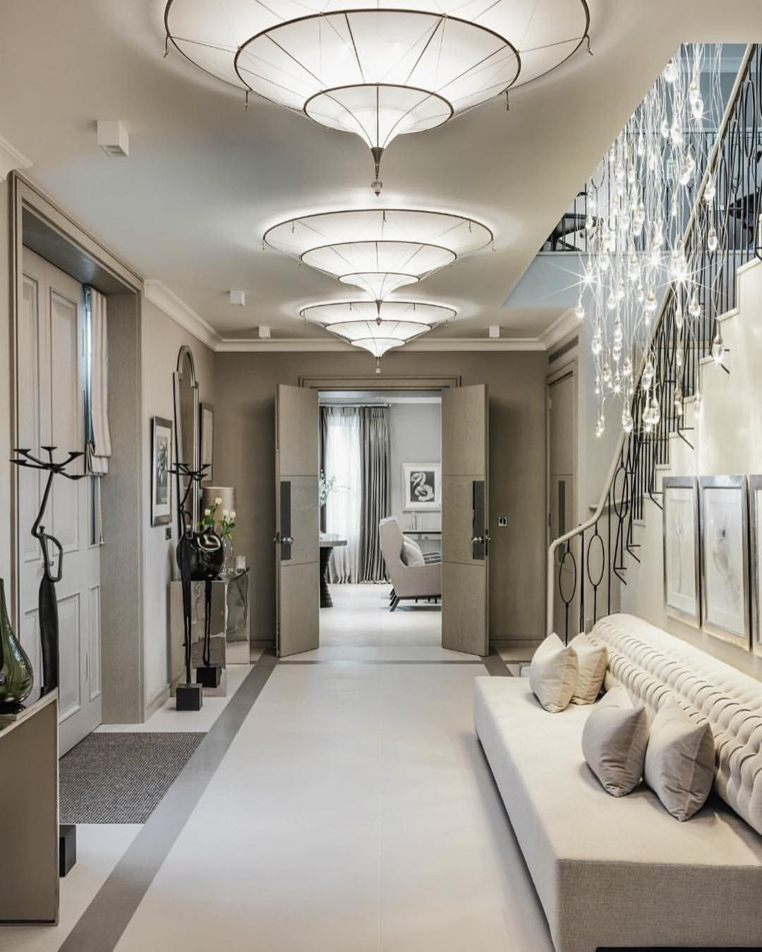 Entryway decor foyer lighting modern bench ideas also best luxury interior design group images in living room rh pinterest