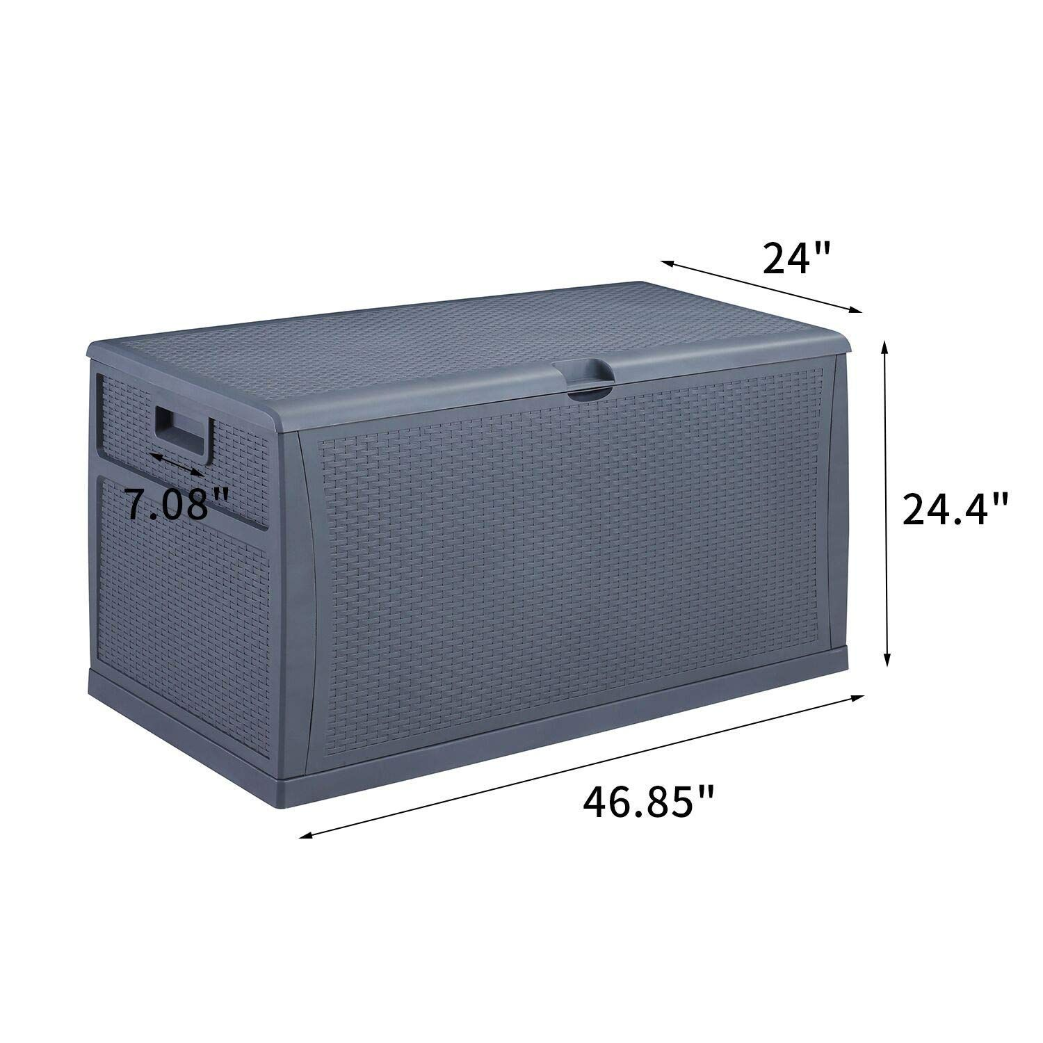Gdy 120 Gallon Patio Storage Deck Box Outdoor Storage Plastic Bench Box Check Out The Image By Visitin In 2020 Outdoor Deck Storage Box Patio Storage Outdoor