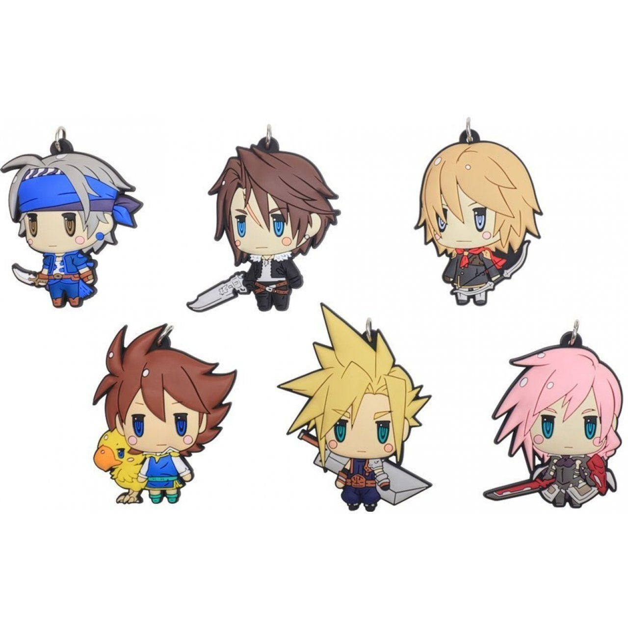 Final Fantasy Trading Rubber Strap Vol 1 Set Of 6 Pieces With