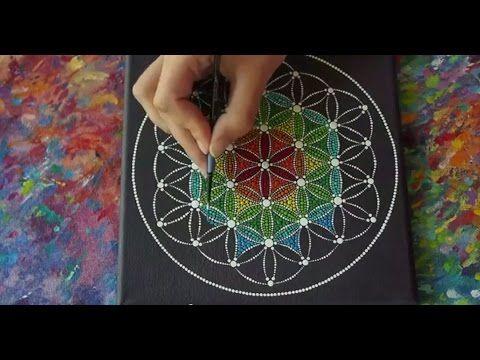 Flower of Life Sacred Geometry Dotillism Painting by Elspeth McLean - YouTube