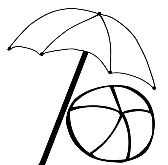 Umbrella With Ball Coloring Pages Kids Coloring Pages Umbrella