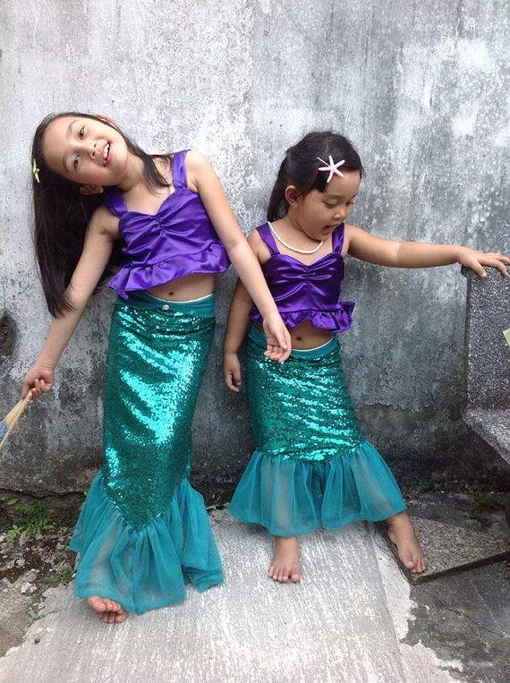 Girl Mermaid costume Little mermaid costume Ariel costume Girl ... fa8f3a60e359