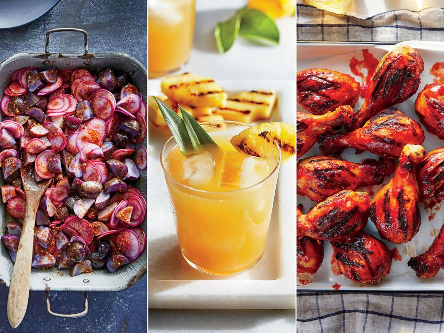 From the main dish to dessert, everything is made on the grill.