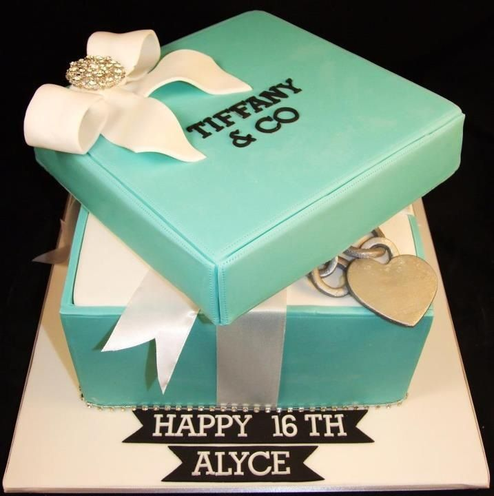 Astonishing Tiffany Co Inspired Birthday Cake Yum Slip This To My Husband Funny Birthday Cards Online Benoljebrpdamsfinfo