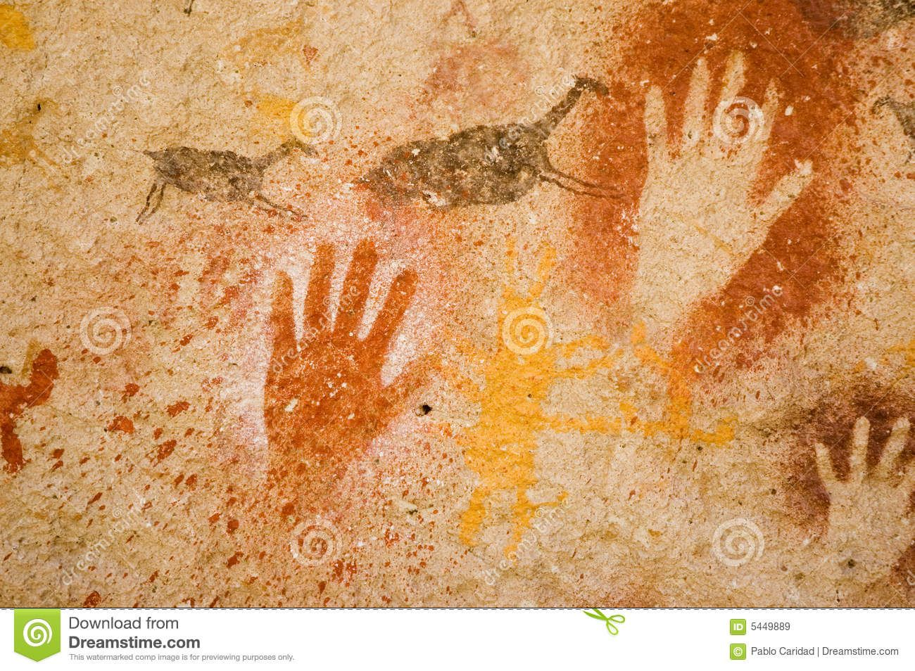 Photo About Ancient Cave Paintings In Patagonia Southern