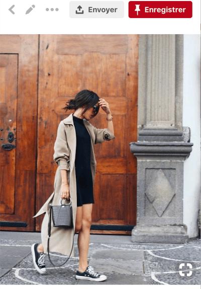 #13 La petite robe noire façon casual chic