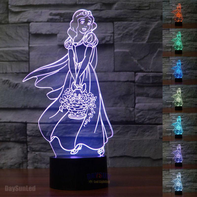 3D Visual Led Night Light Fairy Tale the Seven Dwarfs