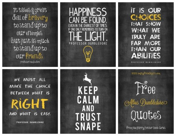 FREE Albus Dumbledore Quotes   Harry Potter Style ... Just In Time For  Halloween.