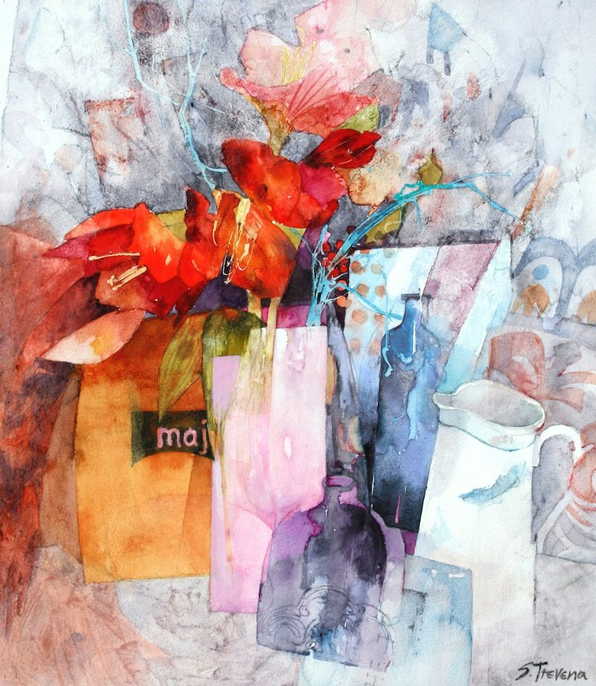 Gallery Shirley Trevena Watercolor Flowers Watercolor Art