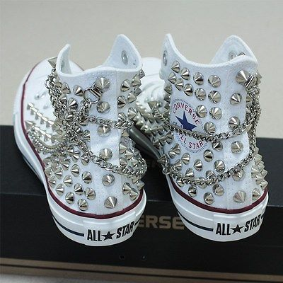 Details about Genuine CONVERSE with studs & chains All star