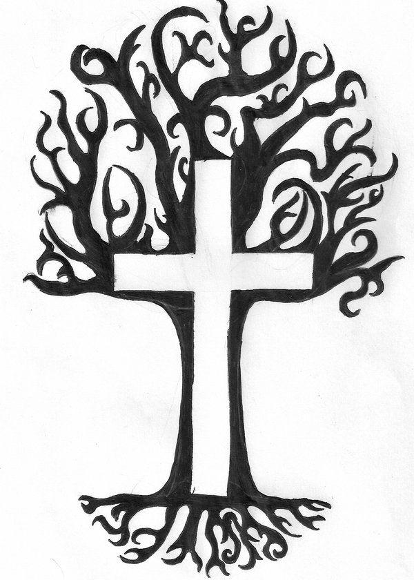 Black Tree Tattoo Design By Zenchicken25 On Deviantart Tree Tattoo Tree Tattoo Designs Family Tree Tattoo