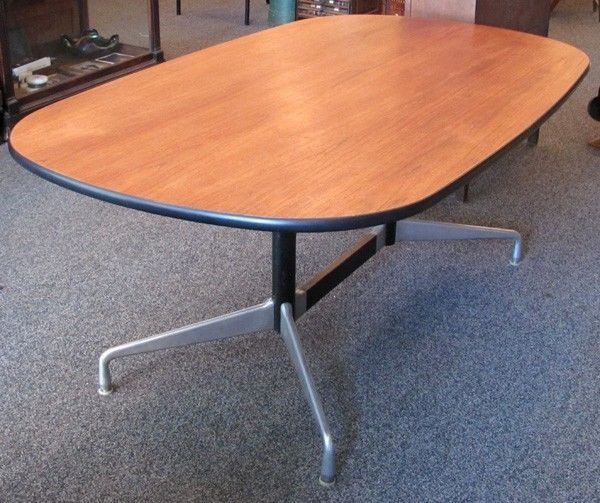 SixFoot Oval Conference Table Charles Eames Herman Miller