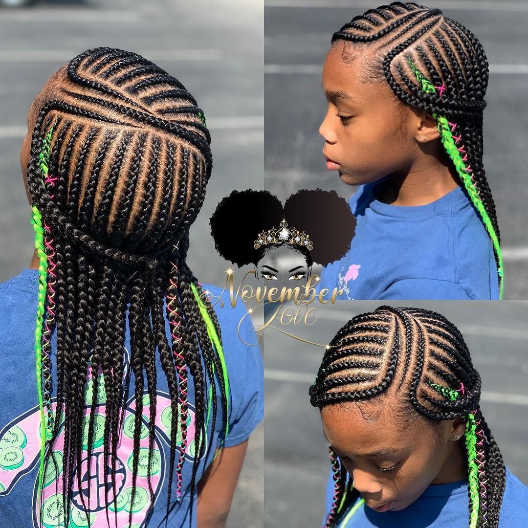 Children S Layer Braids Childrenhairstyles Braidart Childrensbraids Knotlessbraids Invisiblebraids Fee Black Kids Hairstyles Kids Hairstyles Hair Styles