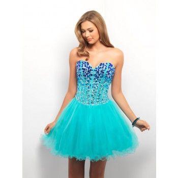 süße bestickte ballkleider kurz blau  abendkleid cocktailkleid abendkleid