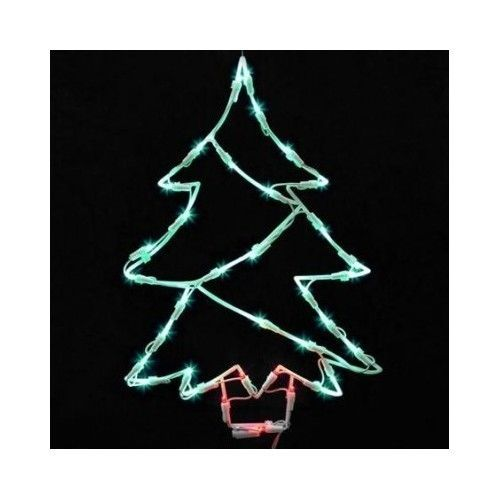 lighted led christmas tree christmas window decoration silhouette 18 holiday vickerman