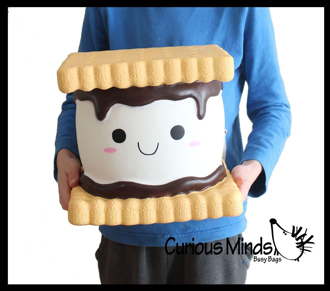 JUMBO S'more Squishy Slow Rise Foam Camp Food Toy - Scented Sensory, S | Curious Minds Busy Bags