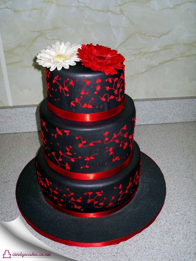 Charmant The Most Beautiful Wedding Cakes | Images Of Cindys Cakes Black With Red  Wedding Cake Wallpaper