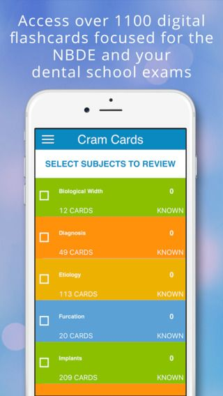 """Pin by Cram Cards on """"NBDE Part 2 Cram Cards"""" for iPhone"""