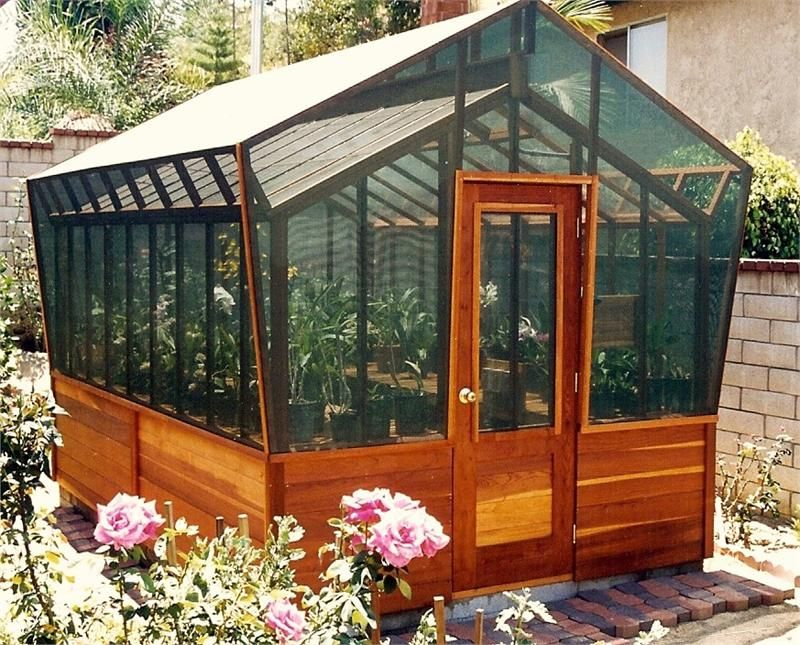 8 x12 california greenhouse with glass and shade kit