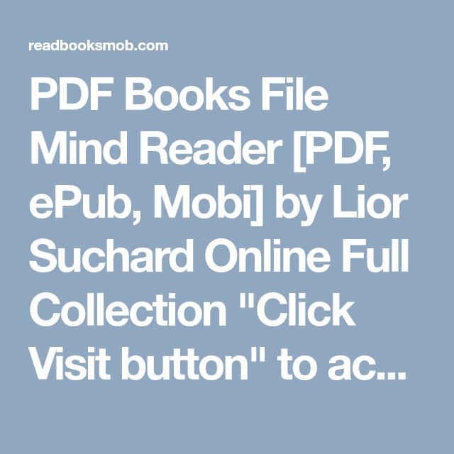 Mind Reader Book Lior Suchard Pdf Download