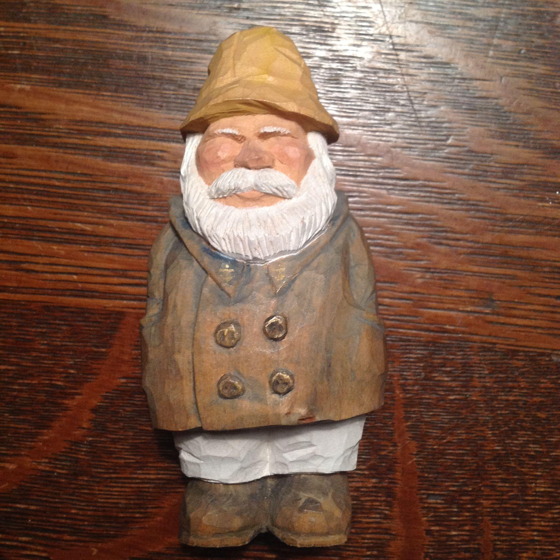 Caricature carving sea captain basswood john