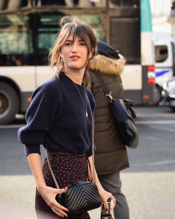 "Sara on Instagram: ""parisian fashion icon @jeannedamas arriving at stella mccartney � #pfw #paris #fashionweek #parisfashionweek #fw18 #pretaporter…"""