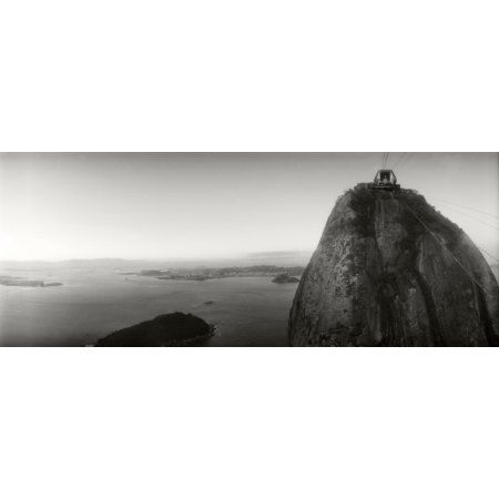 Sugarloaf Mountain at sunset Rio de Janeiro Brazil Canvas Art - Panoramic Images (36 x 12)