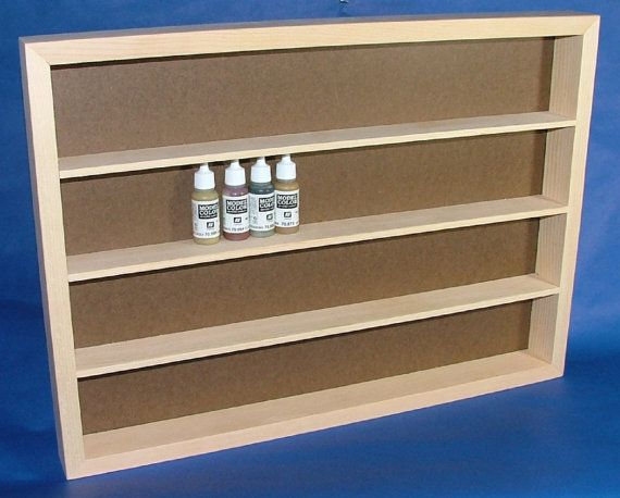 Vallejo And Andreas Miniature Model Paint Storage Shelf Etsy Storage Shelves Shelves Paint Storage