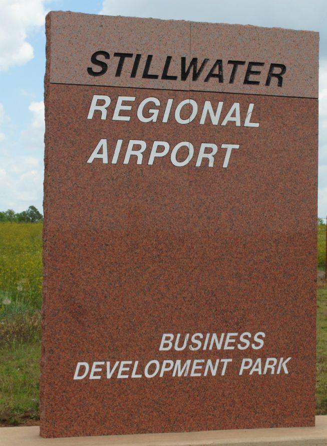 Stillwater Ok Regional Airport Sign Still Water Airport Signs Granite Sign