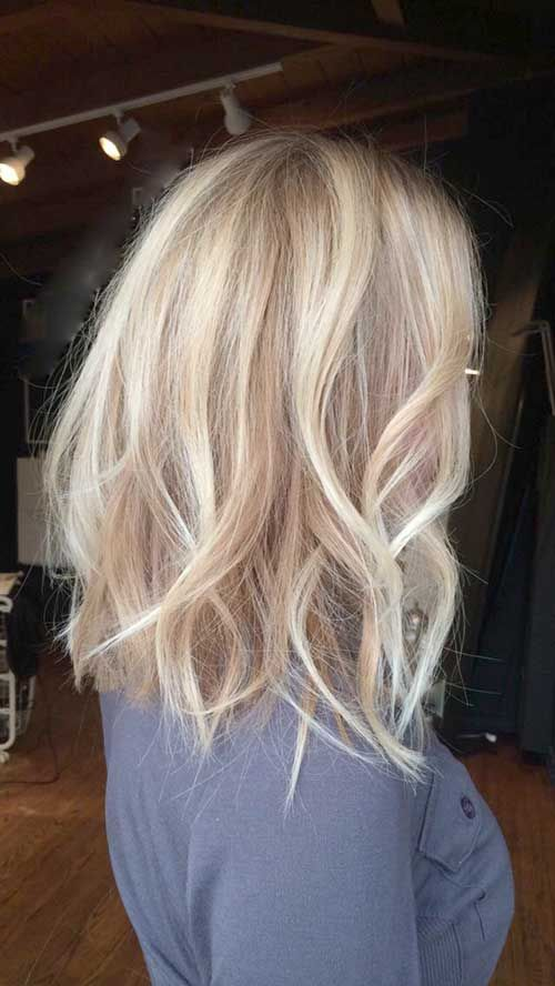 30 Blonde Long Bob Hair Frisuren Haarfarben Und Balayage