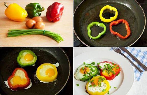 Ovo e pimentão