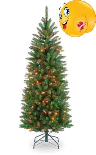 National Tree 4-1/2-Foot Prelit Artificial Kingswood Fir Pencil Tree