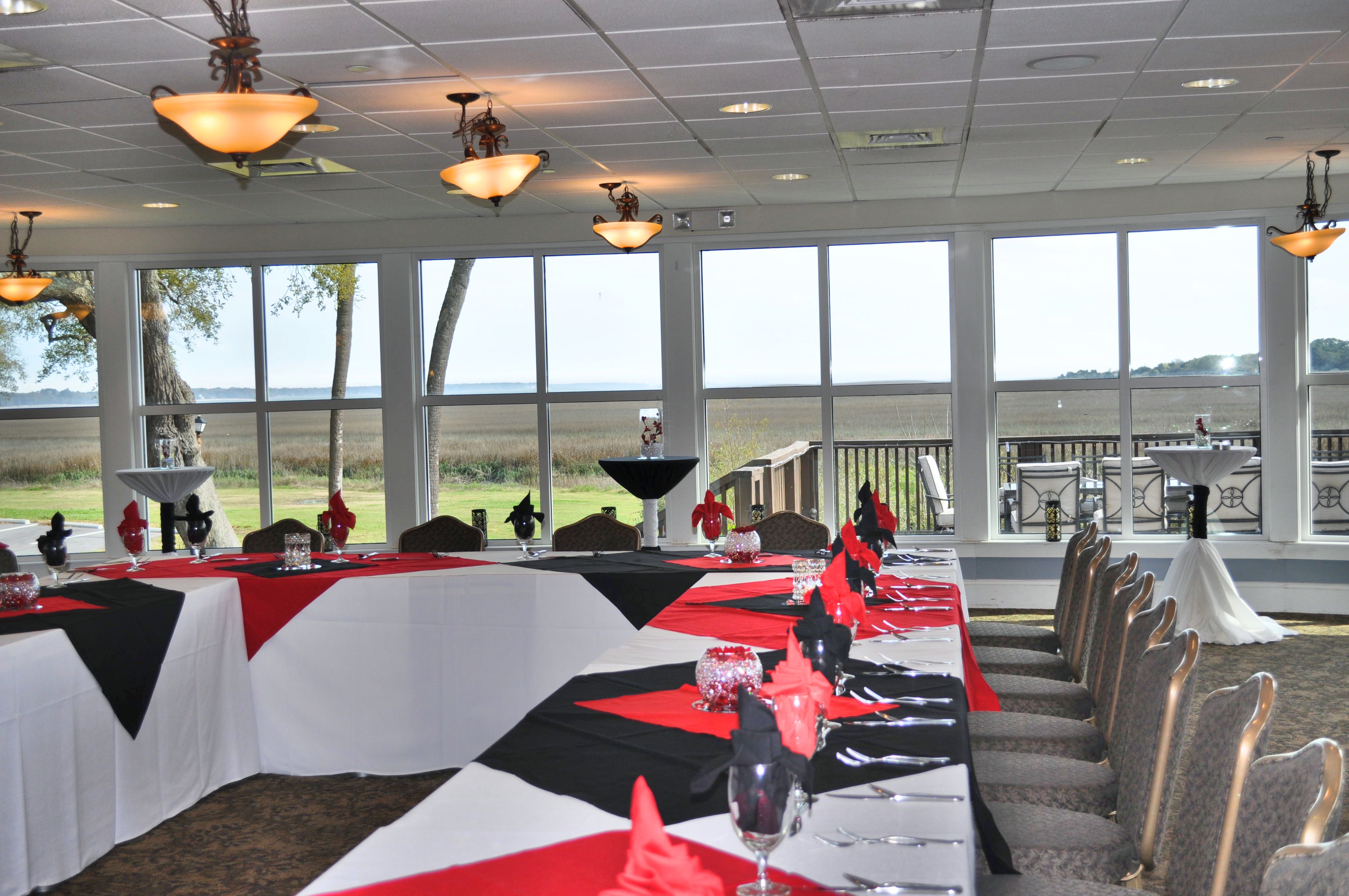 intimate setting with a breathtaking view.