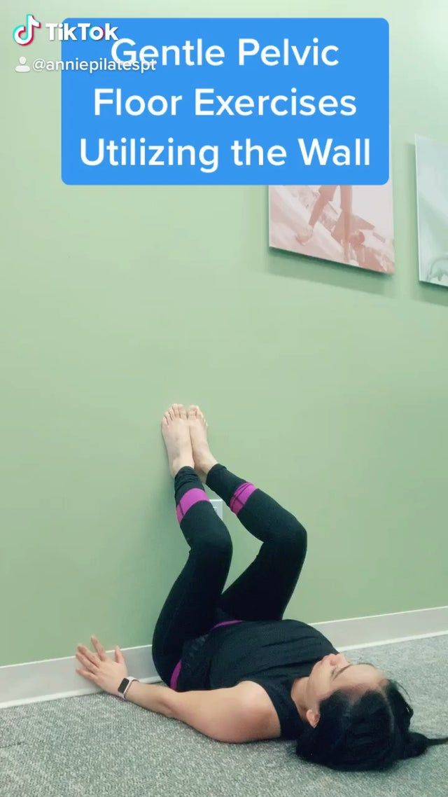 Pelvic floor , core and back muscles weakness? Try this gentle Pilates based physical therapy treatment plan utilizing the Wall for support to help pelvic floor pain, back pain , urinary and rectal incontinence , prolapse and instability of the spine .