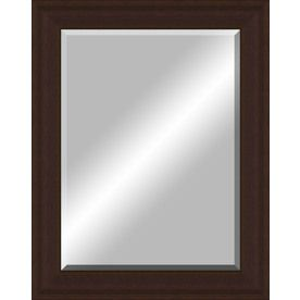 Framed Bathroom Mirrors Bronze 48-in x 38-in oil rubbed bronze beveled frame wall mirror