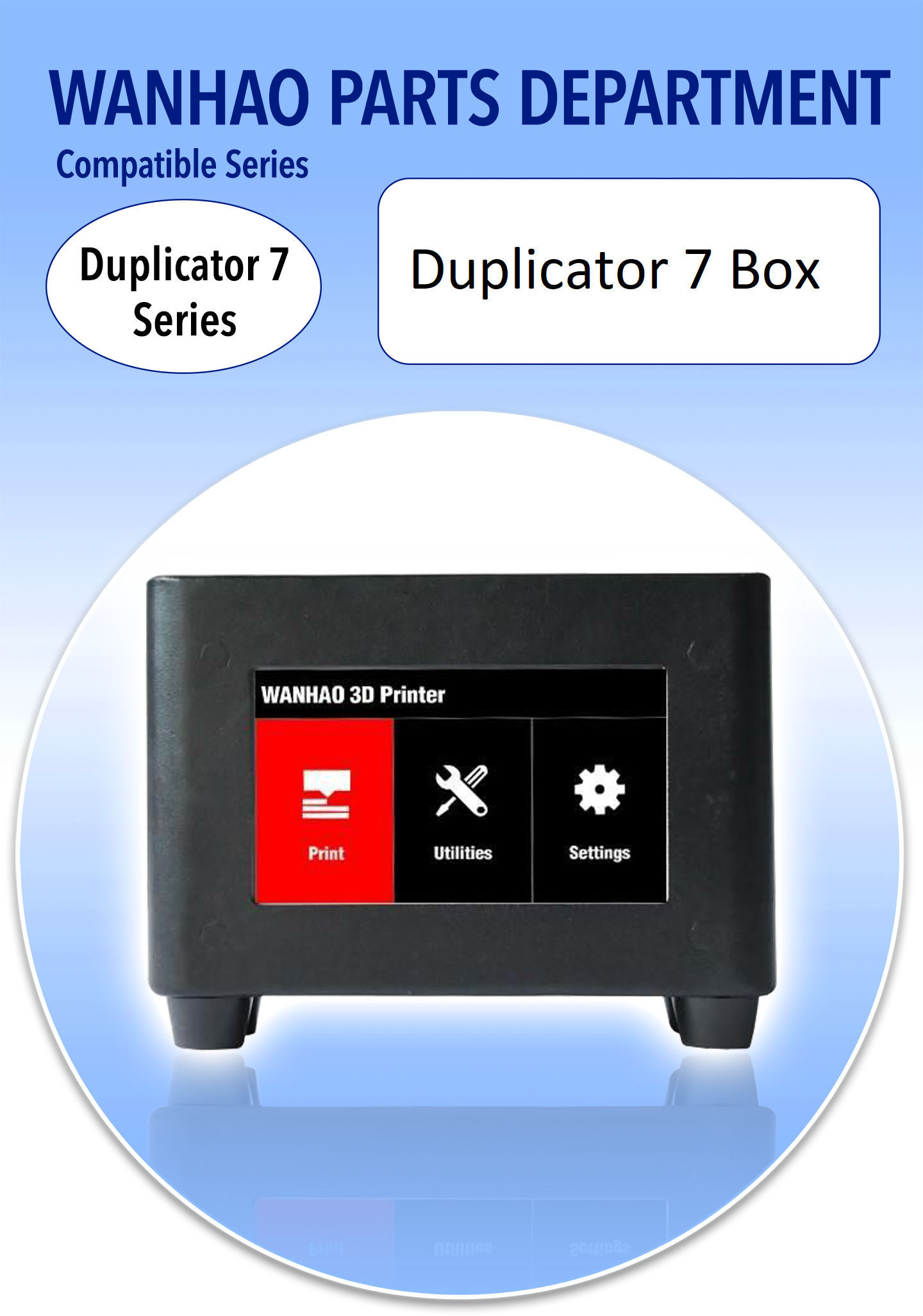 Wanhao D7 Box / TPI Touch Panel Interface - Wanhao Duplicator 7 #touchpanel