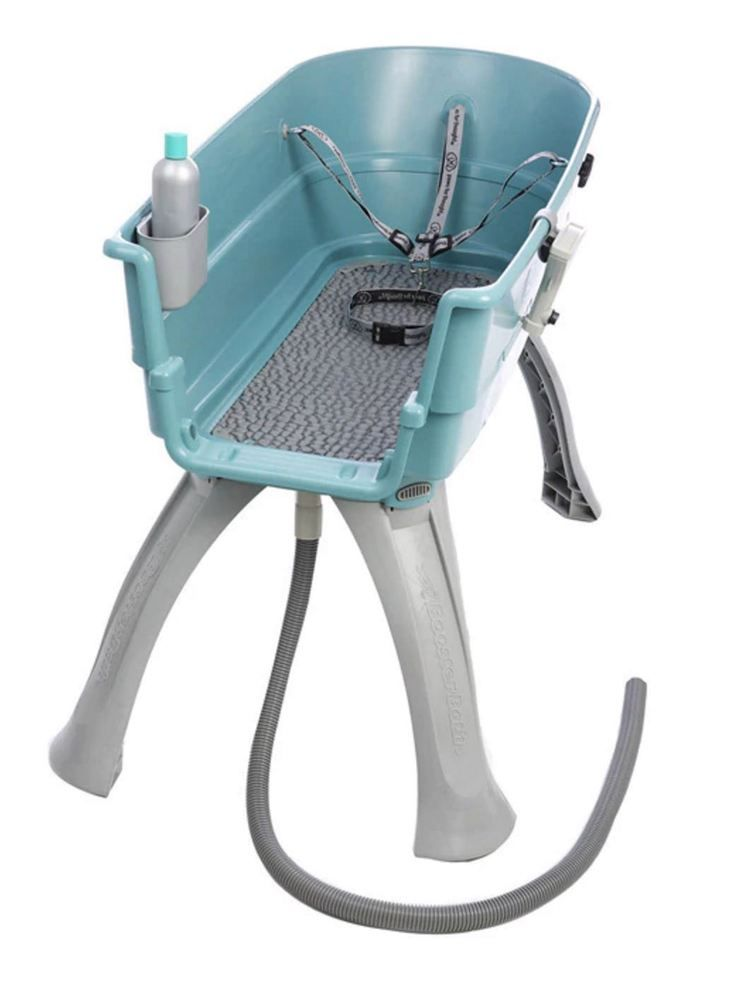 Mobile dog grooming wash washing station tub portable pet