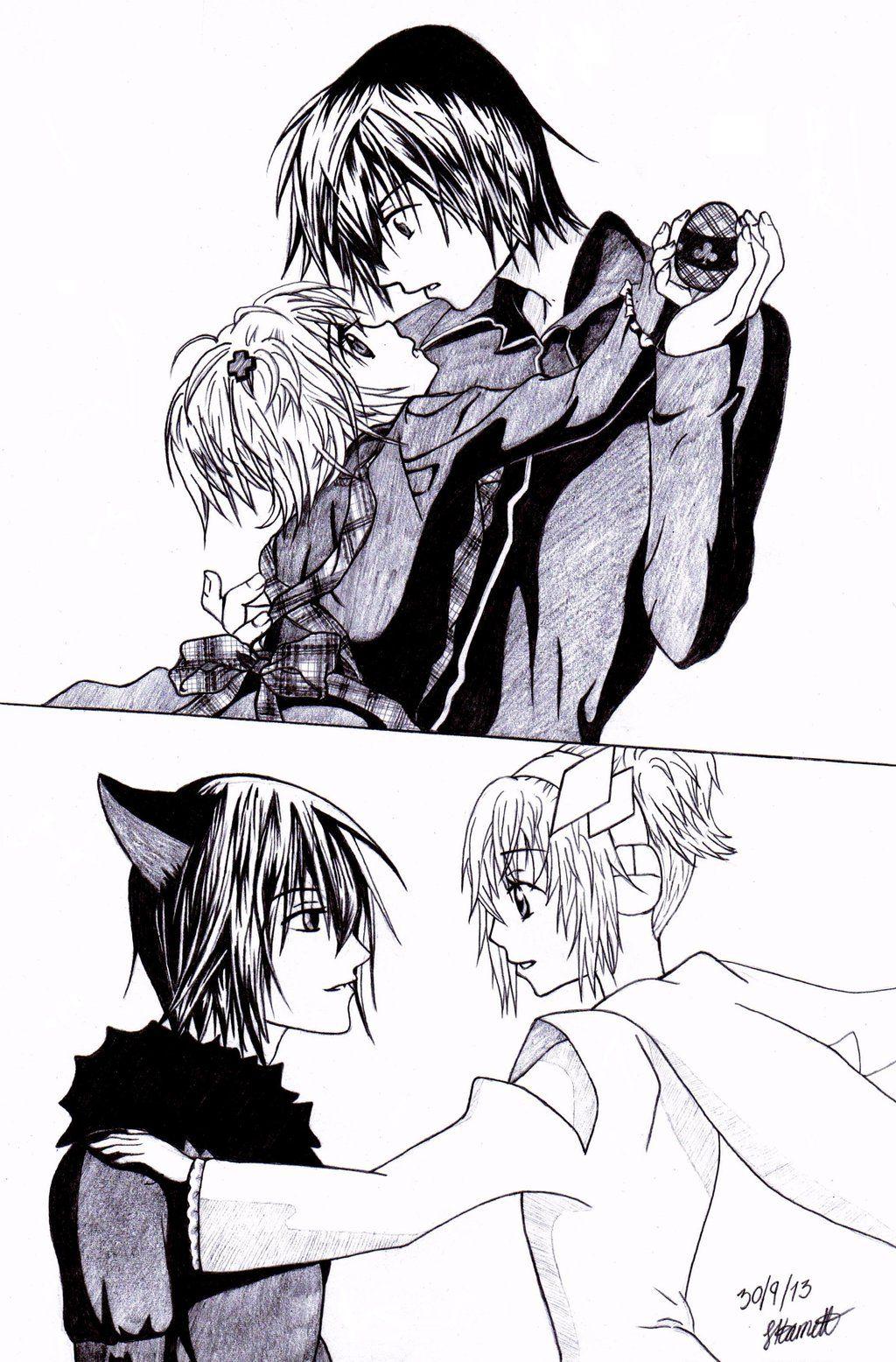 Hinamori Amu and Tsukiyomi Ikuto (Amulet Dia & Death Rebel) from Shugo Chara by ~sophiAmelia on deviantART -