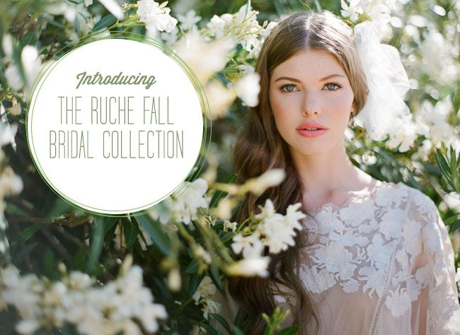 ruche fall bridal collection via @Green Wedding Shoes / Jen ~ #weddings #susansays ~ you do NOT want to miss looking at this. Extraordinary!