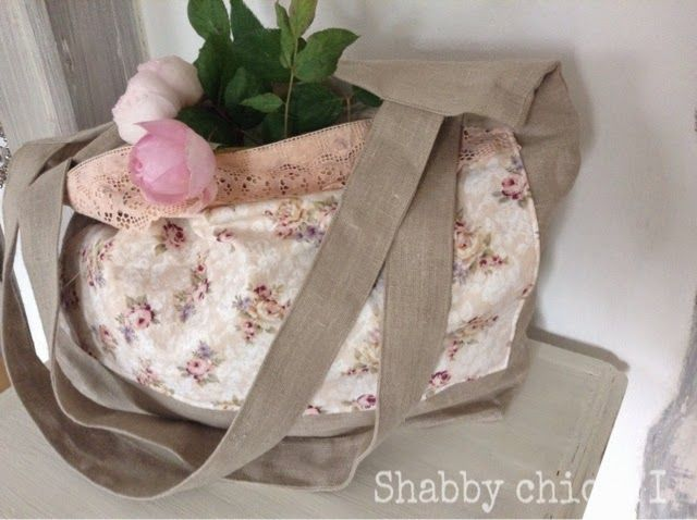 shabby chic and i meine selbstgen hte vintage sommer tote bag taschen pinterest. Black Bedroom Furniture Sets. Home Design Ideas