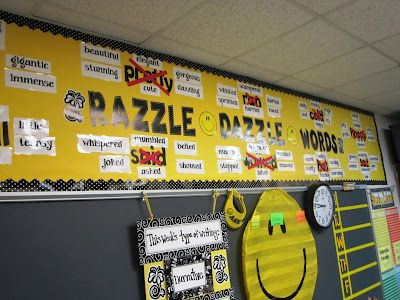 Razzle Dazzle Word Wall. Great way to display vocabulary. | Literacy ...