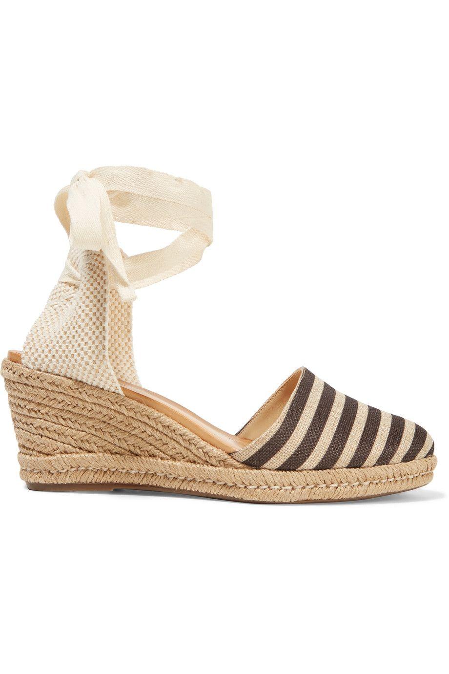 ce2d6873737f9f SCHUTZ Travina Striped Woven Wedge Espadrille Sandals.  schutz  shoes   sandals