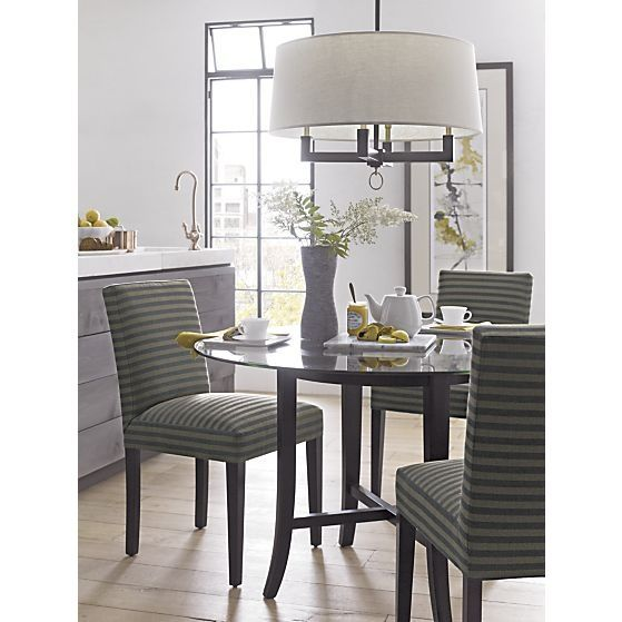 Crate And Barrel Halo Dining Table Ebony With 48 Gl Top In Tables